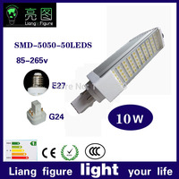 Real power led 2 pins g24d 1 g24d 3 g24d 3 pl bulb Lamp 10W SMD5730 5050 2835 AC85 265V 110V 220V