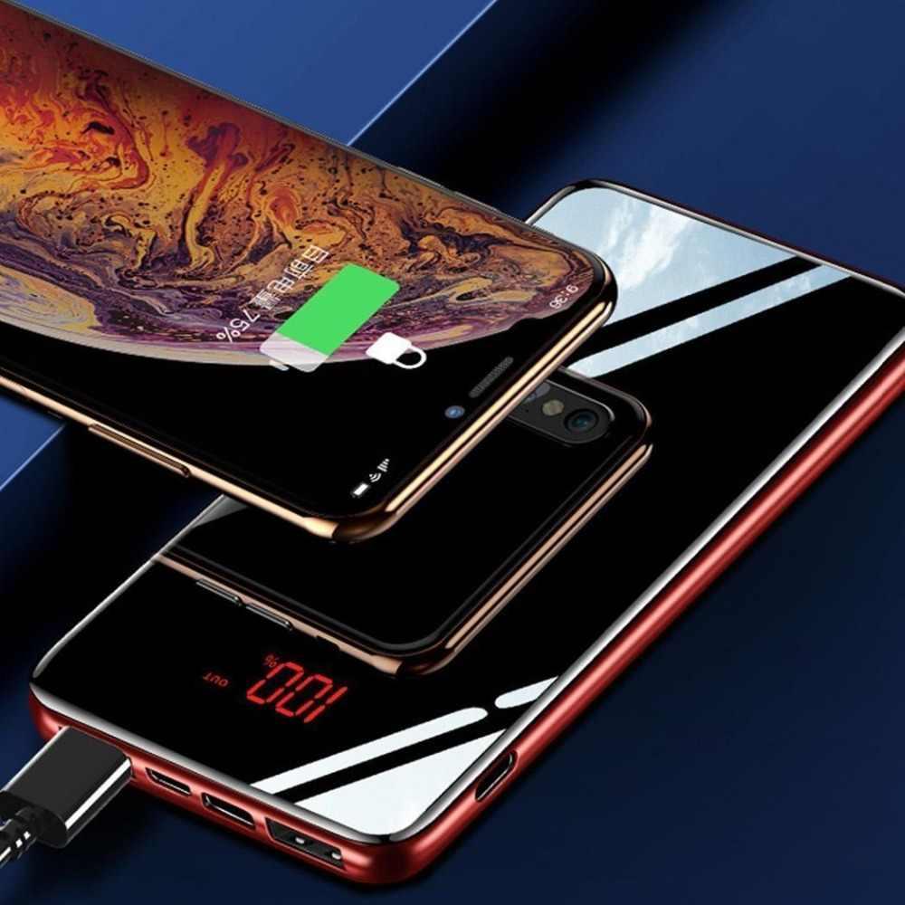 Para Xiaomi iphone Huawei PoverBank Lcd Banco do Poder 30000mah Bateria Externa Powerbank USB Carregador Do telefone Móvel Portátil