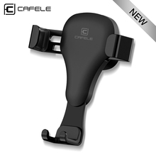 CAFELE Gravity reaction Car Mobile phone holder Clip type air vent monut GPS car phone holder for iPhone 7 6s Plus Samsung S8