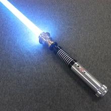 110 Cm Simulatie Jedi Sith Luke Lightsaber Led Flash Light Sound Kracht Light Saber Metalen Handvat Cosplsy Zwaard Lichtgevende Kid speelgoed