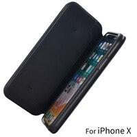 Oryginalny Apple iPhone X Dziennik Skóry Folio Case Automatyczne uśpienia PU Odwróć Skórzany Portfel Case z Gniazda Kart dla iPhoneX