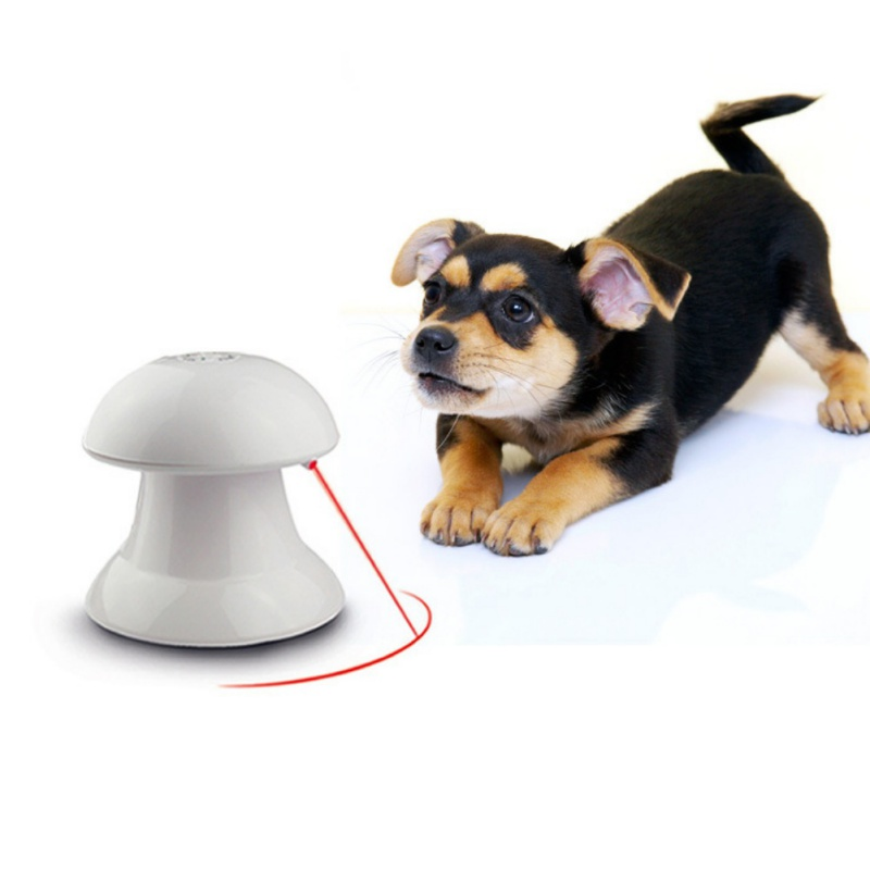 Metal Laser Toys For Cats&Dogs Laser Light Infrared Electric Pet Toy For Cats&Dogs No Battery Pack White
