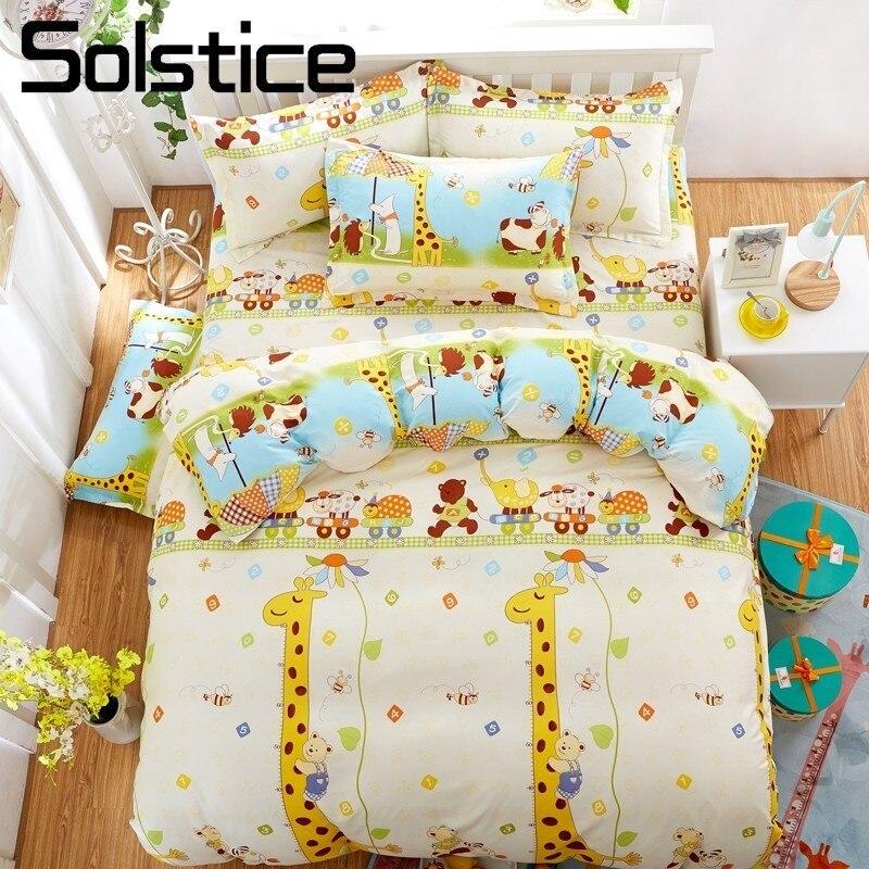Power Source Loyal New Cute Animal Monkey Dog Cat Robbit Panda Kids 3pcs Bedding Set 4pcs Bedlinen Boy Girl Cotton Bed Sheet Duvet Cover Bedclothes