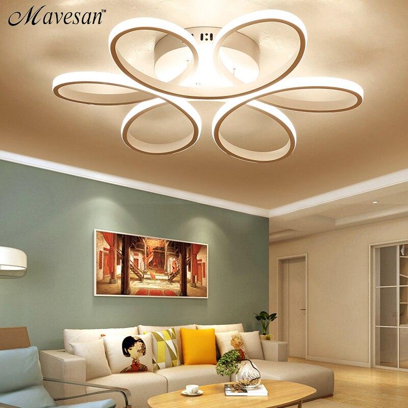 Moderne LED Plafonniers pour le salon Chambre AC85-265V Blanc/Noir couleur télécommande éclairage intérieur Plafonnier - 3