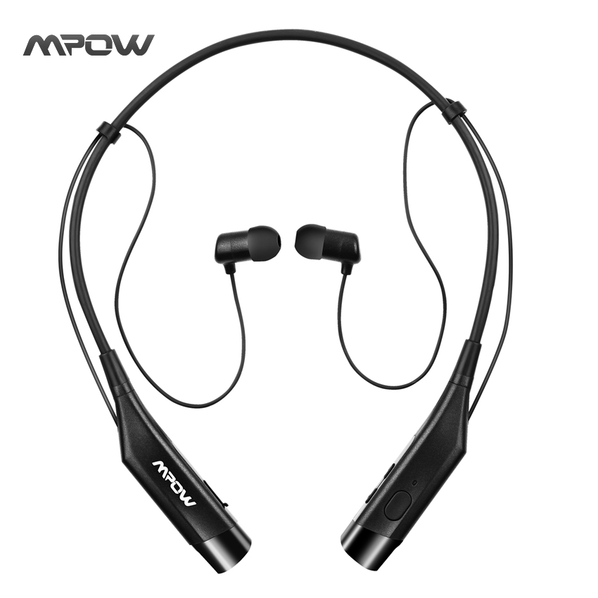 Original MPOW Bluetooth Headphone Wireless Earphone CVC 6.0 Noise Cancelling Headsets w/ Magnet Slot & Mic for iOS Android Phone qcy q25 bluetooth 4 1 earphone wireless noise cancelling headphone