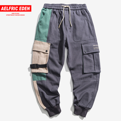 Aelfric Eden Brand New Hip Hop Cargo Broek Highstreet Kleur Blok Contrast Joggingbroek Regelmatige Trekkoord Mannen Joggers Streetwear