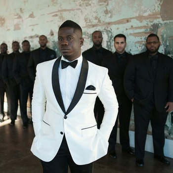 Custom Made White Men Suits for Wedding Groom Tuxedos Groomsmen Wear Best Man Blazers 2Piece Costume Homme Black Pants Ternos