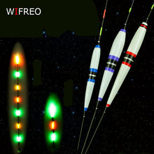 Wifreo 2pcs Premium Night Fishing Electronic Floats Luminous Elec Bobbers Drifts Battery Fishing Tackle