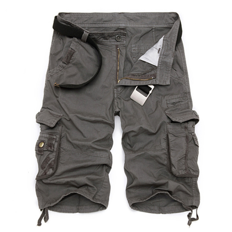 2019 New Arrival Cargo Shorts Men Camouflage Casual Design Military Fashion Shorts Homme Cotton Loose Quality Clothing No Belts
