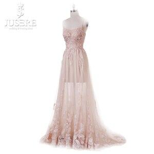 Image 3 - Vestido De fiesta rosa claro, flor princesa Hada, transparente, tirantes finos, lentejuelas, cuentas