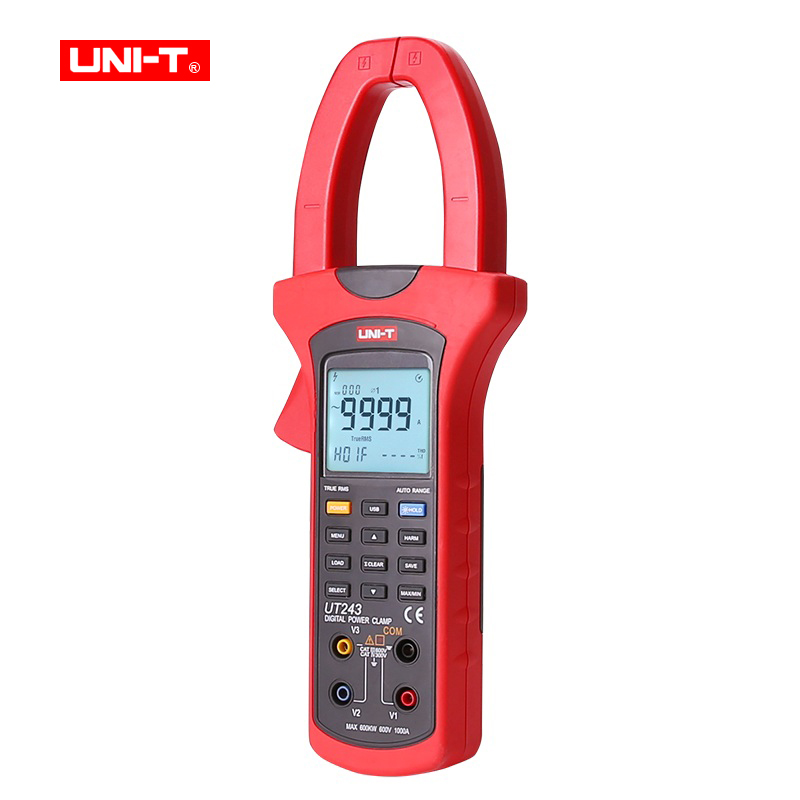 UNI-T UT243 Digital clamp meter Ture RMS power and harmonic meter multimeter ammeter 50Hz~60Hz