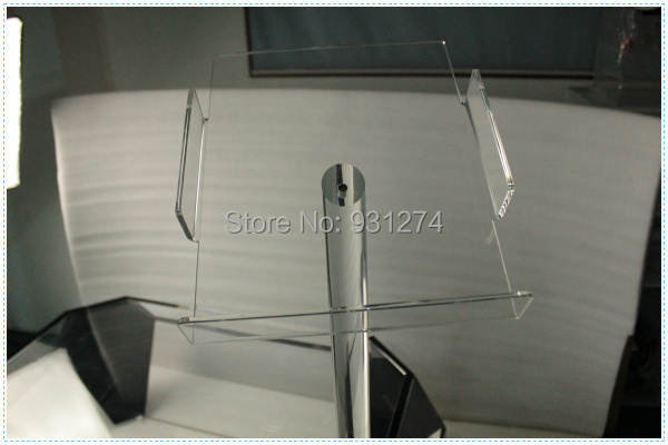 Floor Standing A4 Acrylic brochure holder Clear school office lobby newspaper rack Lucite commercial literature shelf