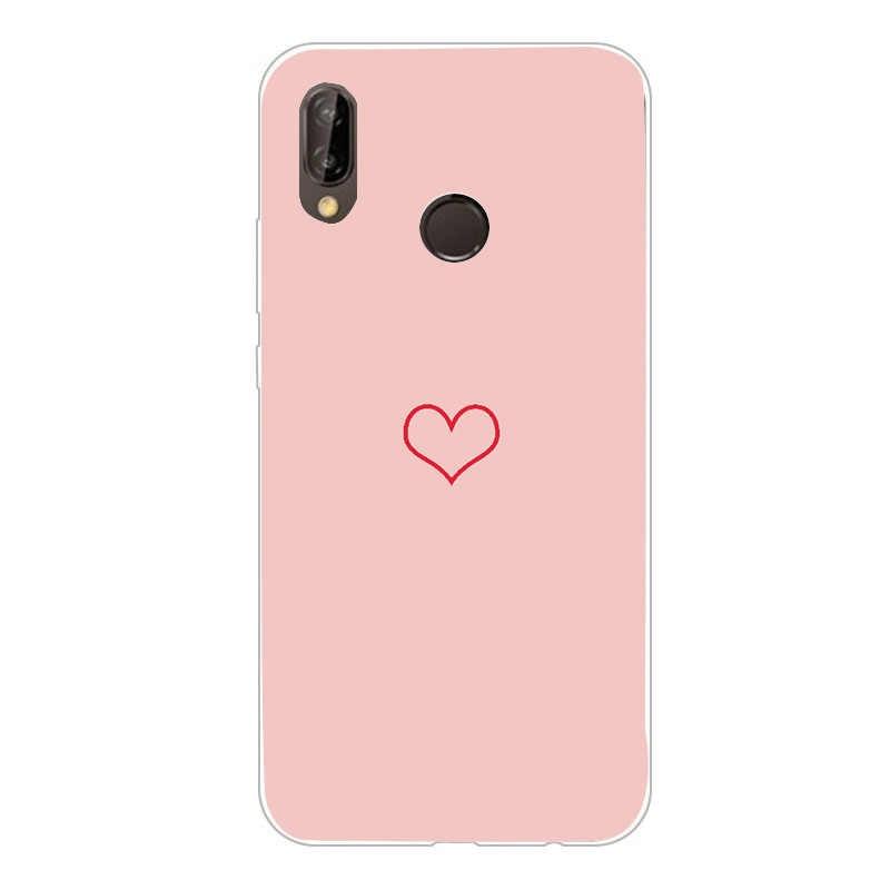 Bao Da Dành Cho Huawei Y6 2018 Ốp Lưng Đá Cẩm Thạch 360 3D Dễ Thương Ốp Lưng Điện Thoại Huawei Y6 Prime 2018 Giao Phối 10 P20 lite P Thông Minh P9 Lite Mini Coque