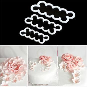 3 шт 3D торт простой лепесток розы Резак плесень помадка глазурь помадка украшения формы Sugarcraft Инструменты Роза Ever резаки @ W