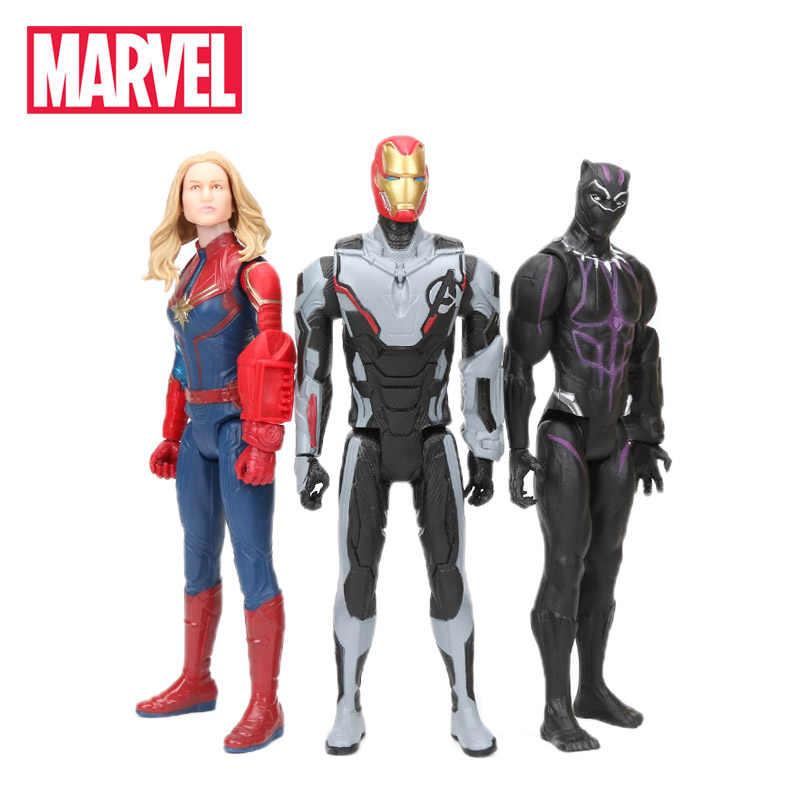 30 cm מארוול צעצועי נוקמי 4 סוף המשחק ספיידרמן תאנסו האלק PVC פעולה איור איש ברזל קפטן אמריקה שחור פנתר דגם צלמית