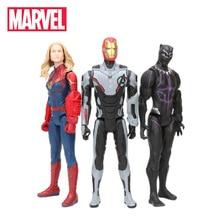 30cm Marvel Toys Avengers 4 Endgame Spiderman Thanos Hulk PVC Action Figure Ironman Captain America Black Panther Model Figurine