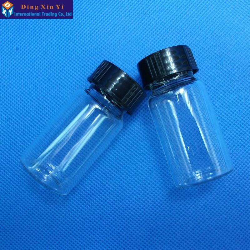 20ML 10pcs/lot Clear Liquid Sampling Sample Glass Bottles Vials Screwcap Capacity Free Shipping
