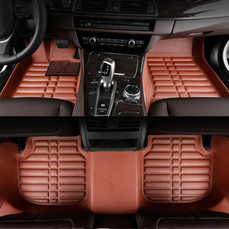 Yuzhe Custom Auto car floor mats for Jeep renegade compass 2017 cherokee patriot wrangler leather mats cargo foot mats liners