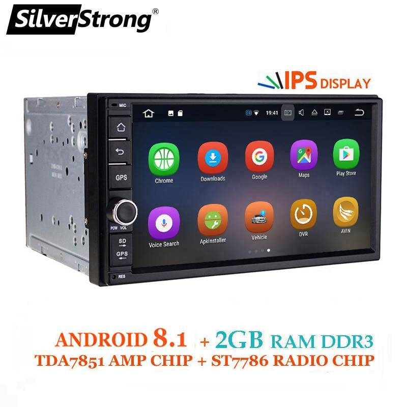 SilverStrong ips Android8.0 Универсальный 2din автомобильный DVD OctaCore 4G 32 г DSP Двойной Дин gps радио TDA7851 Авторадио TPMS 706X3-X5