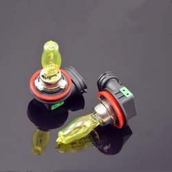 2 шт. H1/H3/H4/H7/H11/9005/9006/H8/H9 100 Вт 12 В мощный ксенон желтый 3000 К галогеновая головного света автомобиля шариковые лампочки лампа туман бордовый