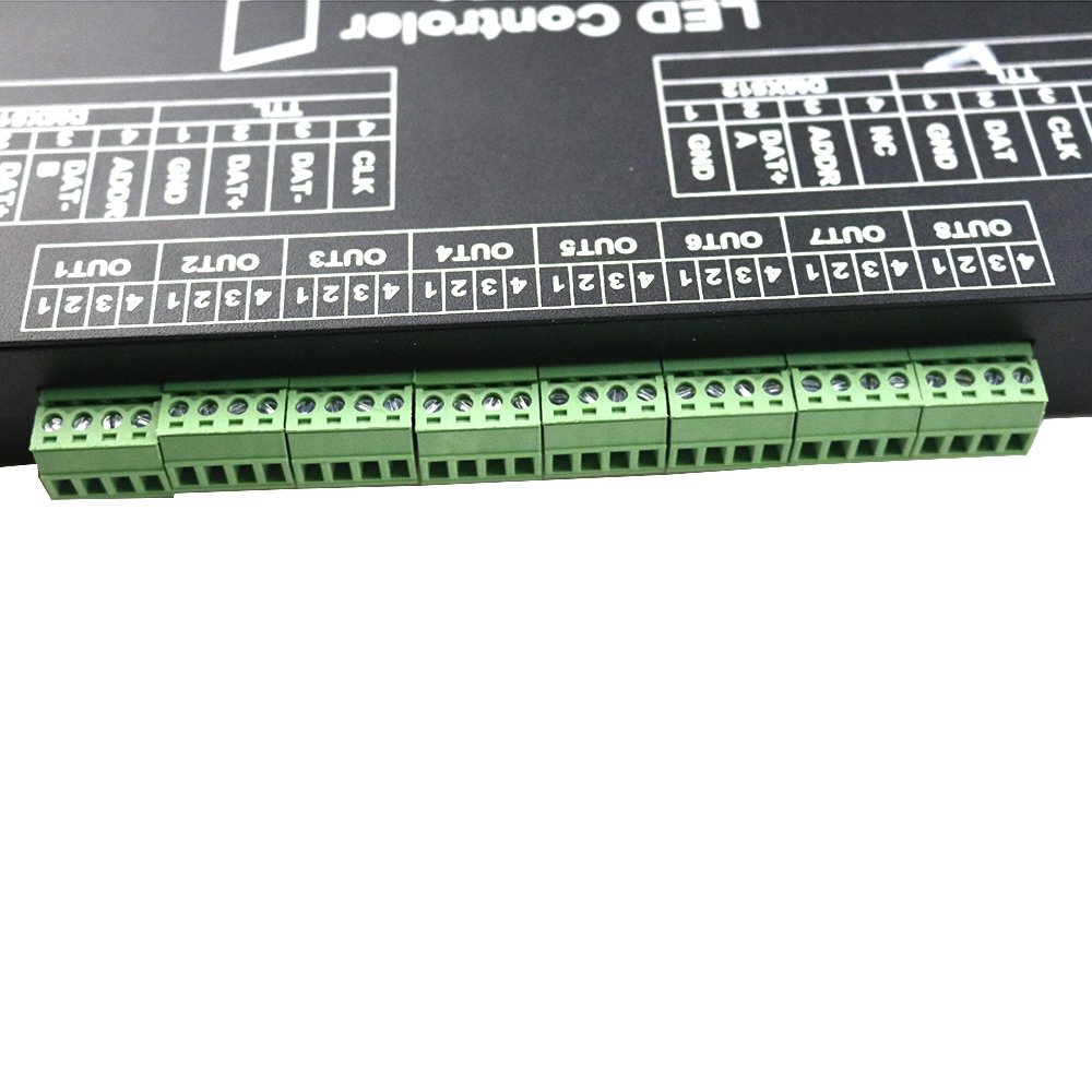 WS2812 Controller Led Music Controller M 8000 Prograble 8096 Pixel RGB Controller for WS2812B WS2801 SK6812 Led Strip Module JQ - 3