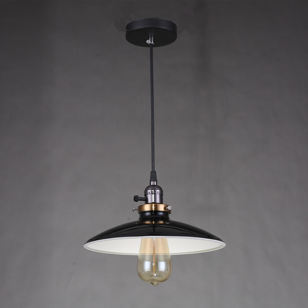 Us 22 49 45 offcord antique white black red metal shade lighting fixtures kitchen island office modern pendant lights vintage ceiling lamp red in