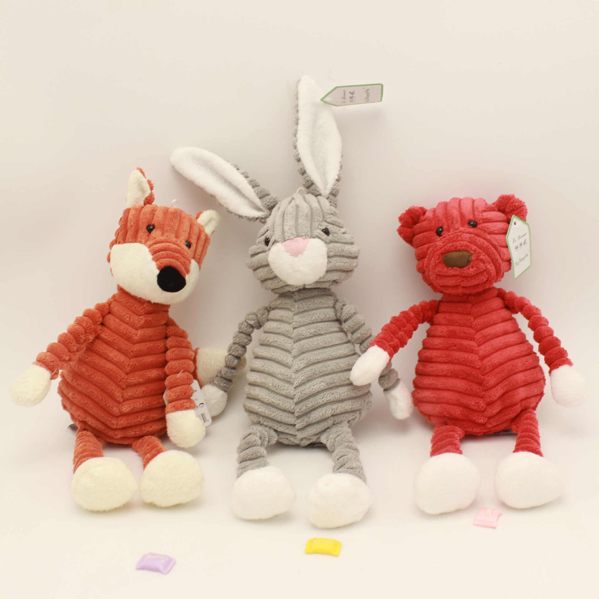 Carino A Forma di Animale di Peluche Giocattoli Creativi Bambola di Pezza per I Bambini A Righe Morbido Giocattoli Casa Decorazione Della Tavola Di Moda Ornamenti Auto