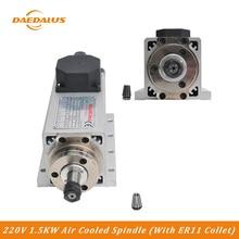 Дедал ЧПУ шпинделя 220 V 1500 W 400 Гц Частота с воздушным охлаждением двигателя шпинделя с ER11 собирать для фрезерования Применение