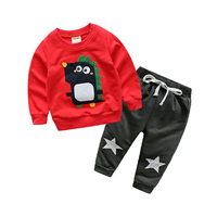 Children S Spring And Autumn Set Boy S Long Sleeve Cartoon Suit For The 2017 New