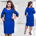 fashionable office women dresses Large size casual o-neck Long sleeve bodycon Dress 2017 plus size women clothing  winter dress