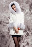 Europe and the United States women long hair collar imitation rabbit hair fashion high end temperament fur coat