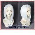 Эш Косплей парики для Лолиты 35 см короткие прямые синтетические волосы синтетический термостойкий парик волос игра парик серебристо-белый ...