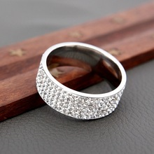Fashion Lovers Rings Crystal Gold Silver Width Metal Girlfriend Gift Women Men Elegant Jewelry Engagement New Hot