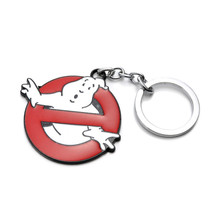 1PCS New Arrivals Ghostbusters Logo Model Keychain Toys Action Figures Movie Anime Ghost Buster Key Ring Pendant Toys