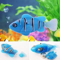 Free Shipping Robofish Activated Battery Powered Robo Fish Toy fish Robotic Pet Cat Favorite Fish Tank
