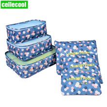 6pcs/set Waterproof Closet Underwear Shoes Wardrobe Large Size Luggage Pouch Travel Storage Bag Organizer For Clothes