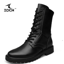 ZOCN Unisex Military Boots High Quality Fashion 2016 Winter Ankle Boots Women Men With Fur Warm Military Boots Plus Size 37-52