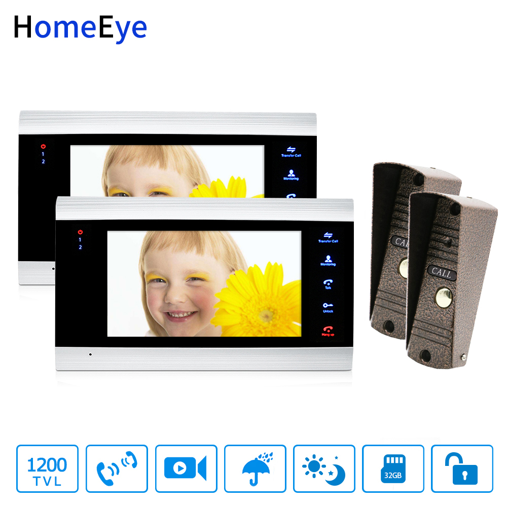 Wholesale Video Doorbell Video Intercom 2-2 Home Access Control System Motion Detection Multi-languages OSD Menu Touch Button