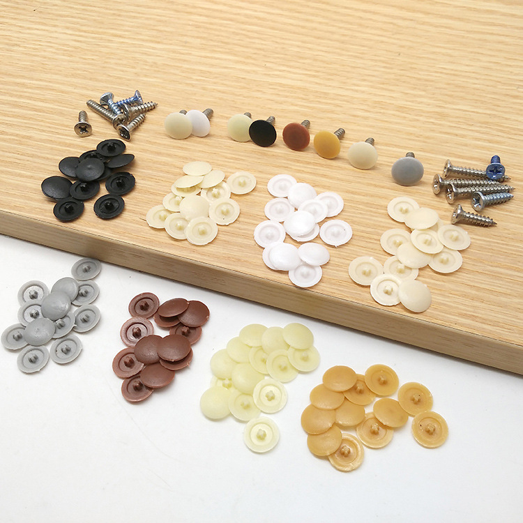 200pcs Ugly Hole Cover Self-tapping Screw Cross Special Cover Decorative Cap Plastic Cover Hole Plug Self-tapping Screw Cap Hat