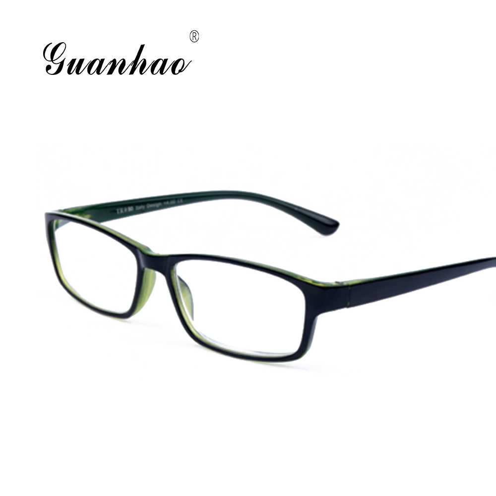 8619e7e5c0 Guanhao ultraligero irrompible Unisex gafas de lectura de plástico hombre  mujer TR90 marco gafas hipermetropía gafas