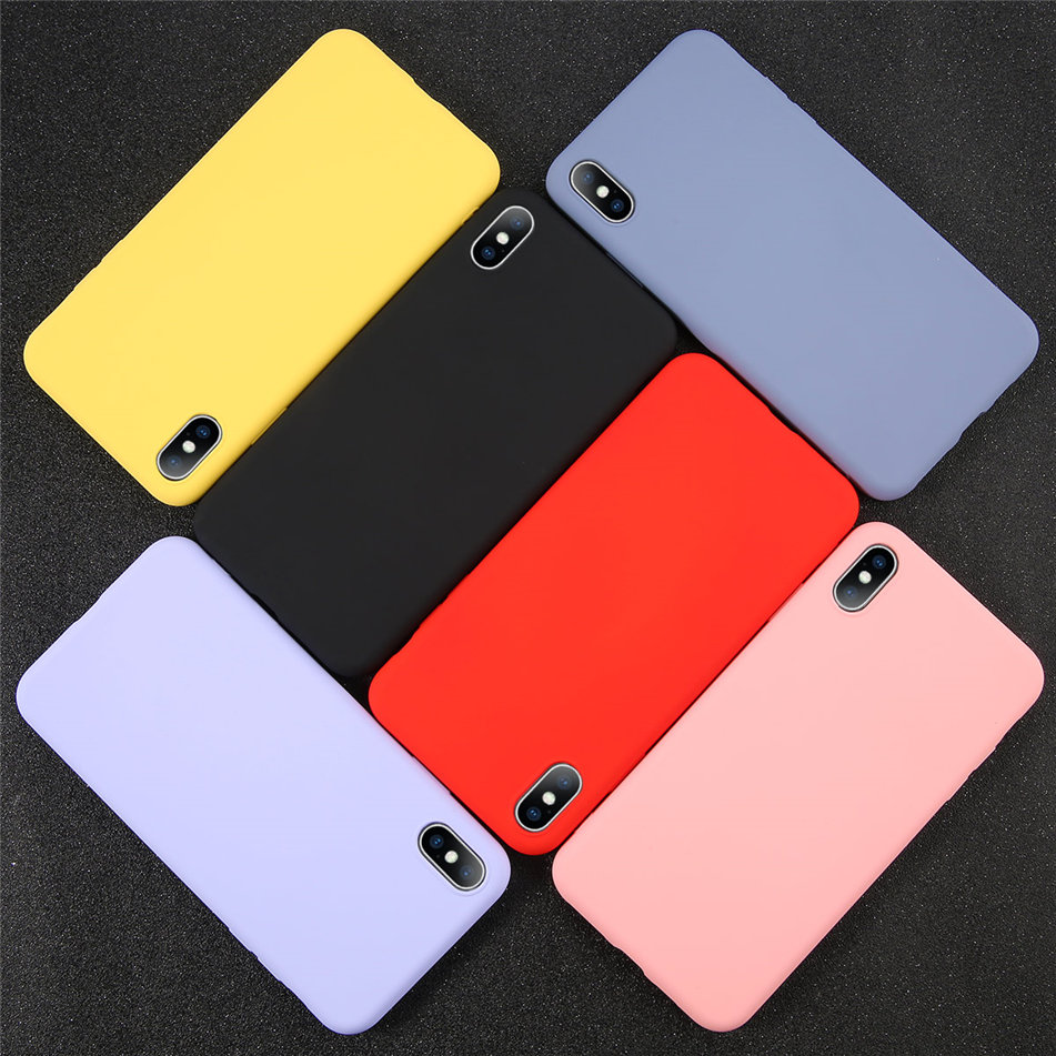 HTB1rQdHXUGF3KVjSZFoq6zmpFXaa - USLION Silicone Solid Color Case for iPhone SE 2020 11 Pro MAX XR X XS Max Candy Phone Cases for iPhone 7 6 6S 8 Plus Soft Cover