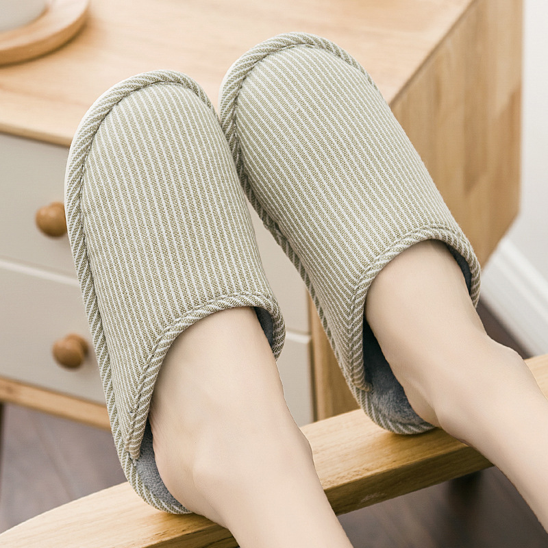CG1 Autumn and winter solid color home indoor wood floor non-slip waterproof male and female couple plush warm cotton slippers fashion autumn and winter indoor home lovers cotton drag floor plush slippers female slip resistant