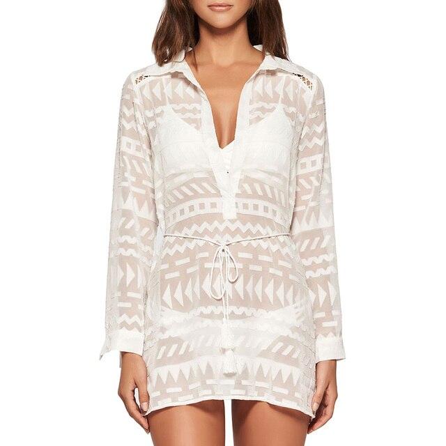 Womens white wrap over shirt for dresses