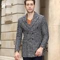 Элегантный Дизайн Шерсть Мужские Костюмы slim fit камвольно плащ зима ветрозащитный Многоцветный Мода куртки деловой Человек n повседневная