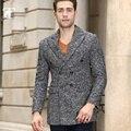 Elegante Diseño de Lana de Los Hombres Trajes slim fit peinada trench coat chaquetas de invierno a prueba de viento Multicolor Moda Hombre de negocios n casual