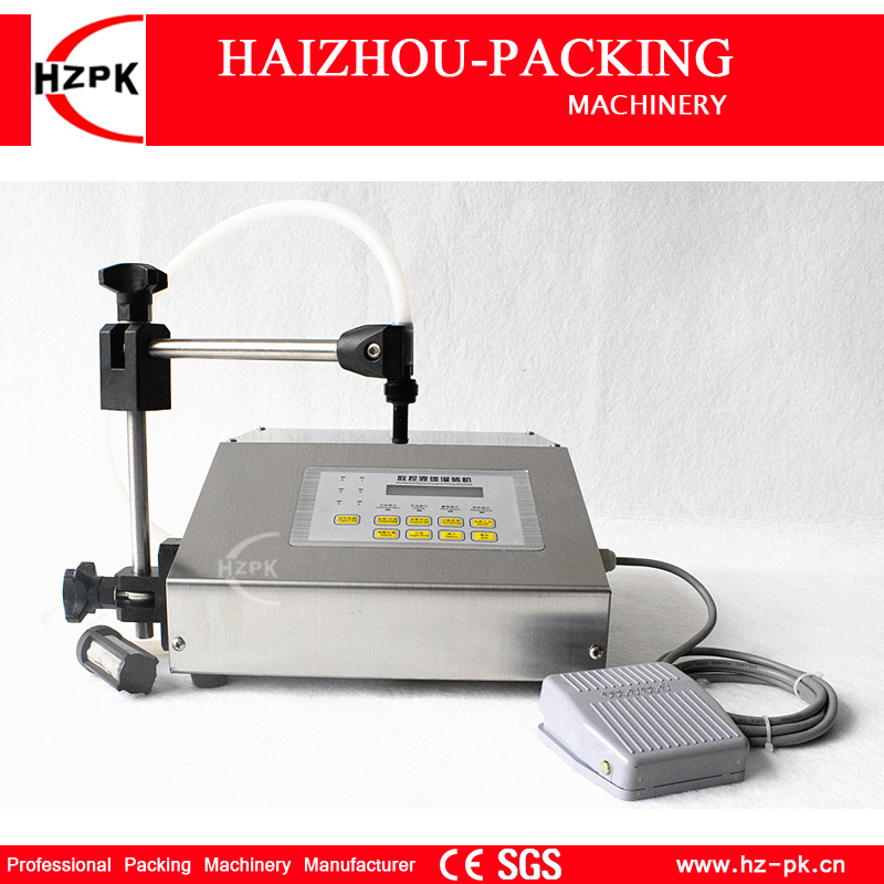 HZPK Digital Control Automatic Filling Machine Portable Electric Water Filling Machine Liquid Type Juice Small Packer (HZK-160) easy operation numerical control liquid filling machine on sale