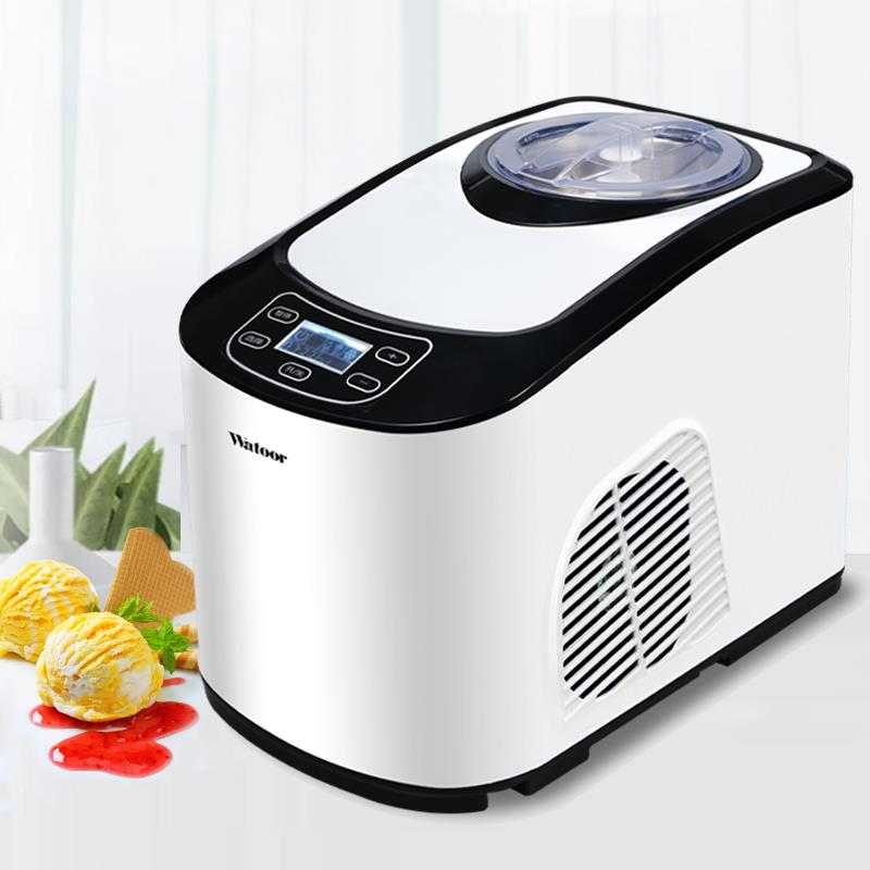 220V Automatic Household Electric Ice Cream Machine Multifunctional Soft Hard Ice Cream Maker Machine Commercial Using EU/AU/UK-in Ice Cream Makers from Home Appliances