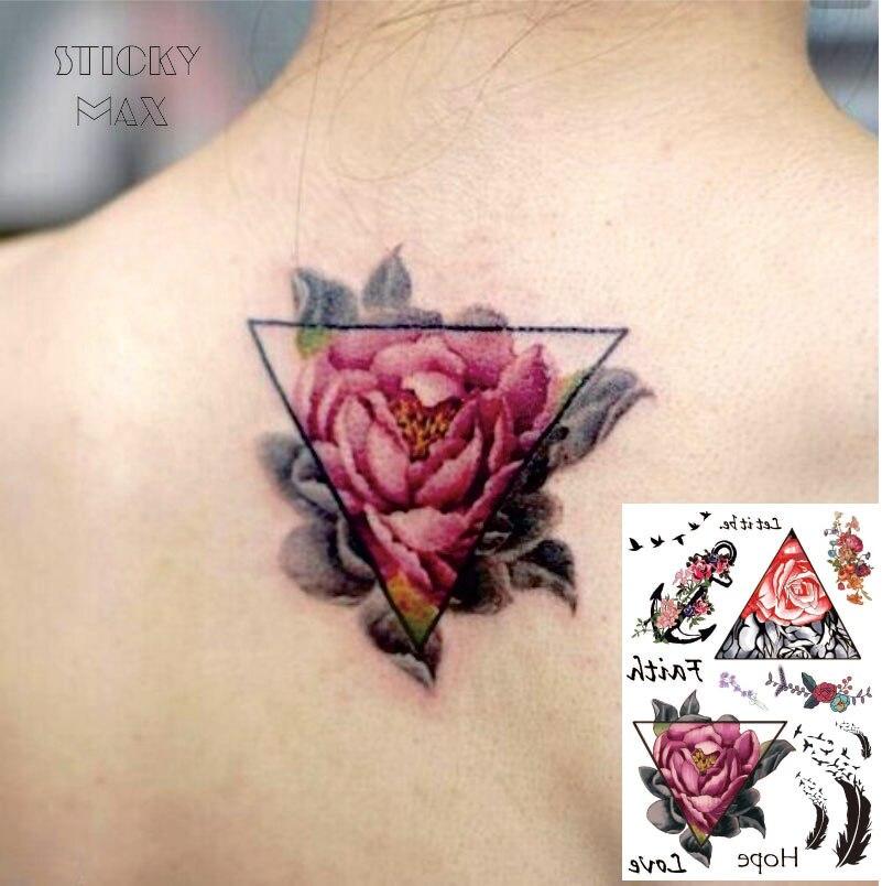 Aliexpress Com Acheter W01 1 Piece Triangle Rose Sur Le Dos Etanche