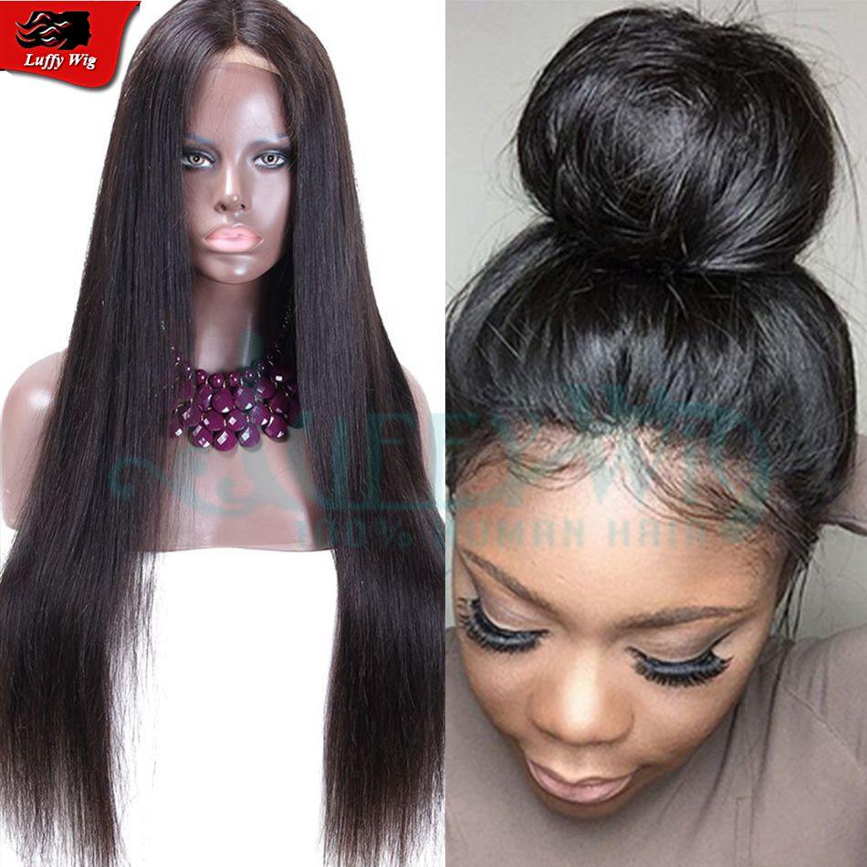 Brazilian Virgin Human Hair Silky Straight Full Lace Wigs
