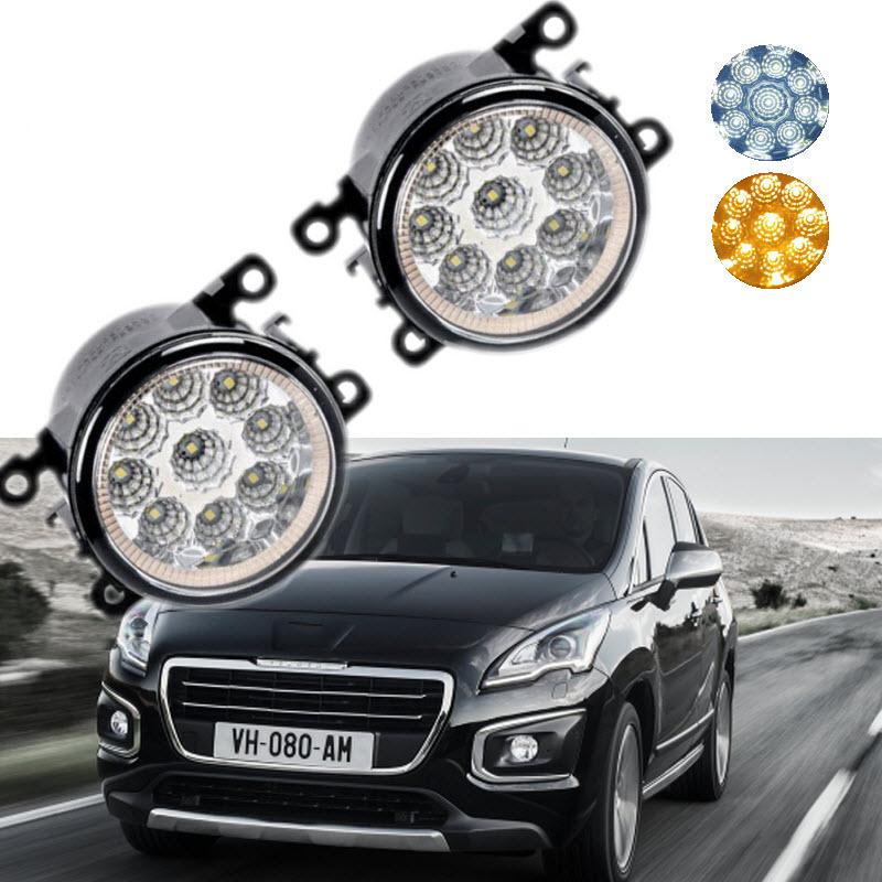 Car-Styling For Peugeot 3008 2009-2015 9-Pieces Leds Chips LED Fog Light Lamp H11 H8 12V 55W Halogen Fog Lights